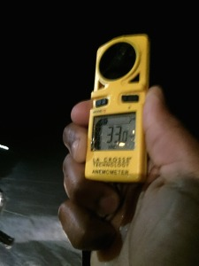 Handheld Anemometer - used during Storm Coverage at Pacifica Pier