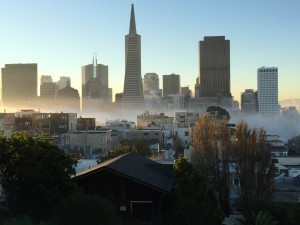 Financial District - View From Telegraph Hill - Coit Tower reopens to the public Tuesday afternoon after a controversial commercial shoot using a drone took place there on Monday.