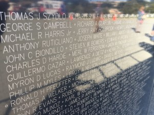 """The Wall That Heals"", a half-scale replica of the Vietnam Veterans Memorial, at Golden Gate National Cemetery in San Bruno, April 9 through April 12, 2015."