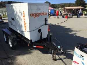 PG&E Vendor Aggreko provided the power generation to operate the display.