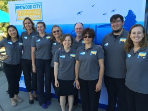This is the team that helped to lead the way!  Redwood City residents come out to celebrate the launch of Step Up and Power Down with an art project. Wednesday, June 17