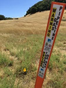 PG&E Gas Pipeline Marking