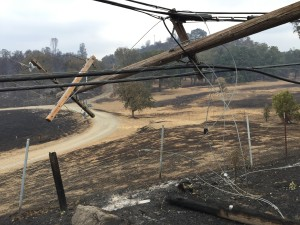 Valley Fire damaged a majority of the city's electrical infrastructure