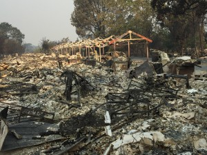 More than 500 homes destroyed.