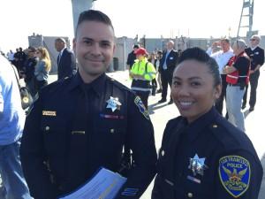 Officers Albie Esparsa & Grace Gatpandan, San Francisco Police Department