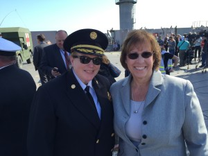 Evermary Hickey, PG&E Director of Preparedness & Response Support & Chief Joanne Hayes-White, San Francisco Fire Department