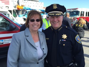 Evermary Hickey, PG&E Director of Preparedness & Response Support & Chief Greg Suhr, San Francisco Police Department