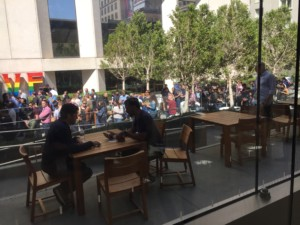 Hundreds of people were lined up outside the Apple store on Post Street, hoping to buy one of the shiny new gadgets when the doors opened at 8 a.m. Apple Union Square - San Francisco, CA